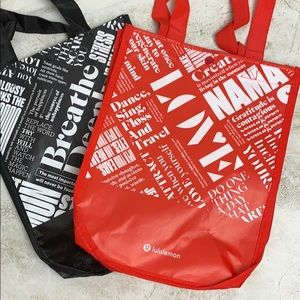 LULULEMON — Reusable Small Tote Bags — SET OF TWO
